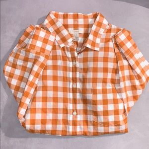 J.crew checkered button up